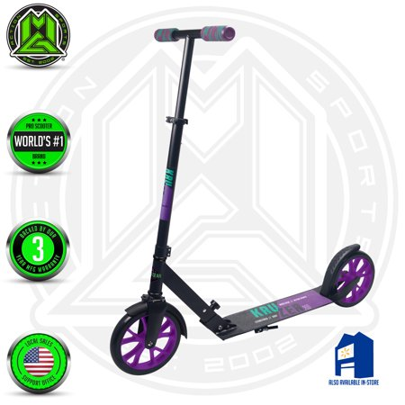 MADD GEAR - Kruzer 200 Commuter Scooter – Height Adjustable Handlebar - Suits Ages 8+ - Max Rider Weight 220lbs - 3 Year Manufacturer's Warranty - World's #1 Pro Scooter