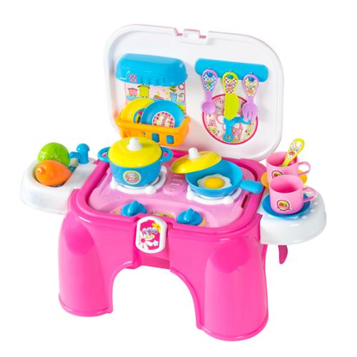 Kids Toy Pretend Kitchen Cooking Playset with Lights & Sounds Great Gift