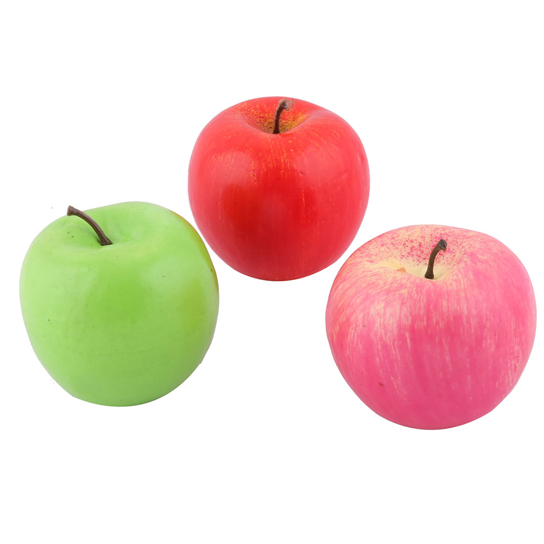 Foam Photo Prop Decor Handmade Artificial Apple Designed Emulation Fruit 3pcs