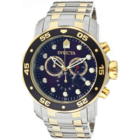 Men's 0077 Pro Diver Quartz Chronograph Blue Dial