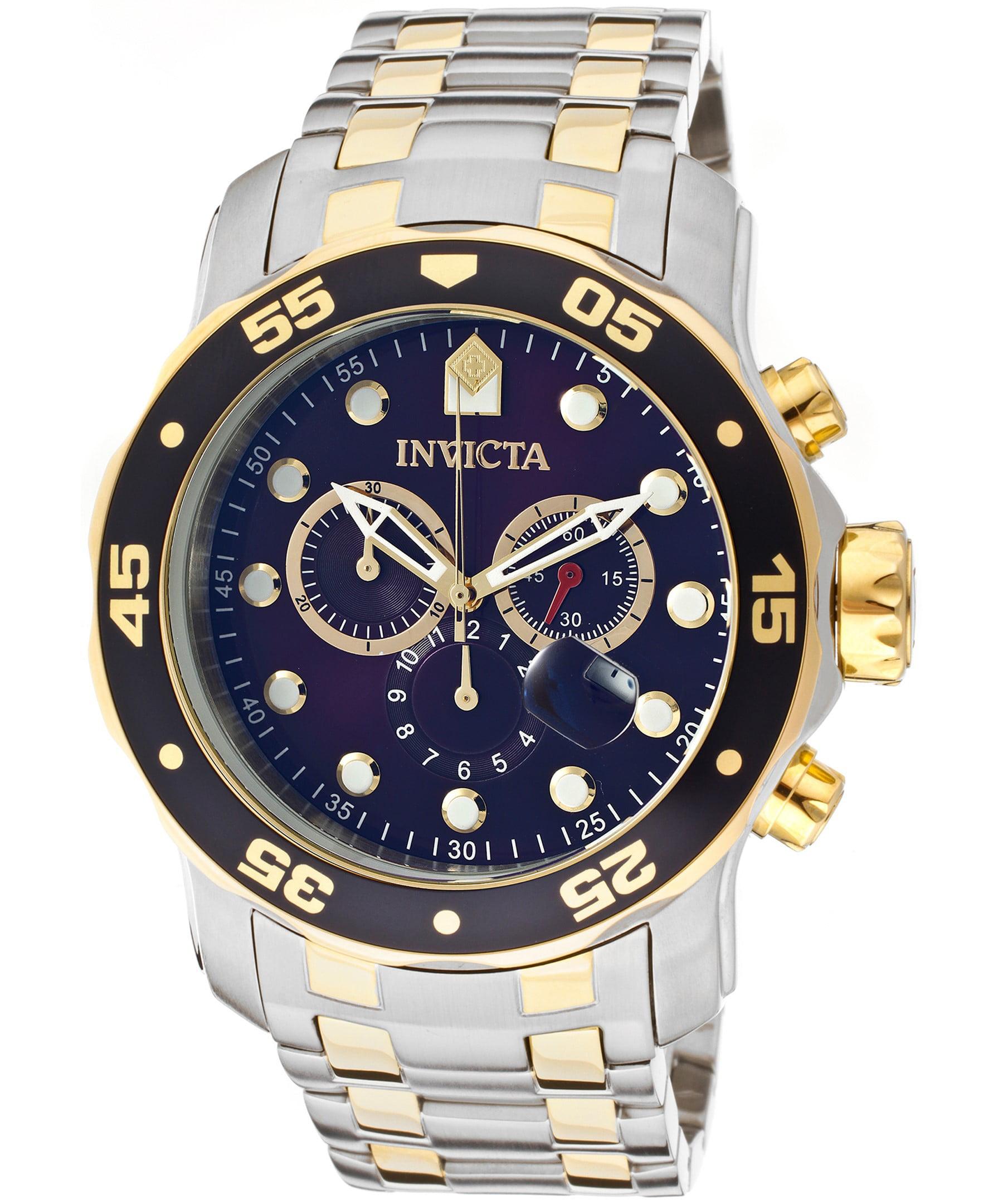 Men's 0077 Pro Diver Quartz Chronograph Blue Dial Watch