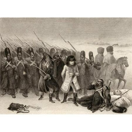 Napoleons Retreat From Russia 1812 Napoleon Bonaparte 1769-1821 Emperor Poster Print, Large - 34 x 26 - image 1 de 1