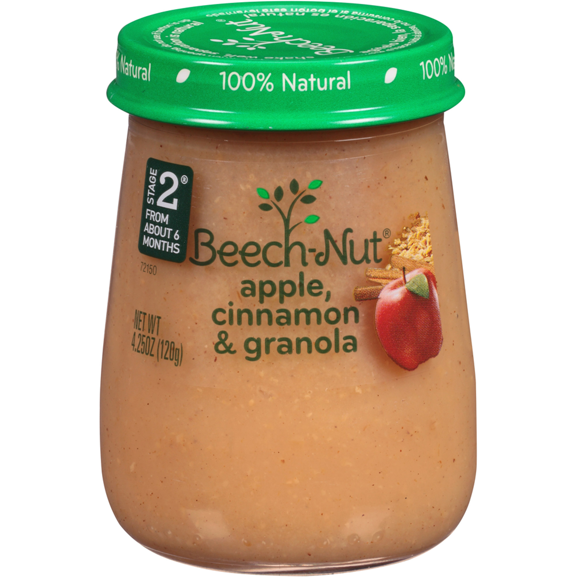 Beech-Nut Naturals Stage 2 Apple, Cinnamon & Granola Stage 2 Baby Food, 4.25 oz, (Pack of 10)