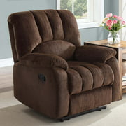Mainstays Recliner with Pocketed Comfort Coils, Brown Fabric