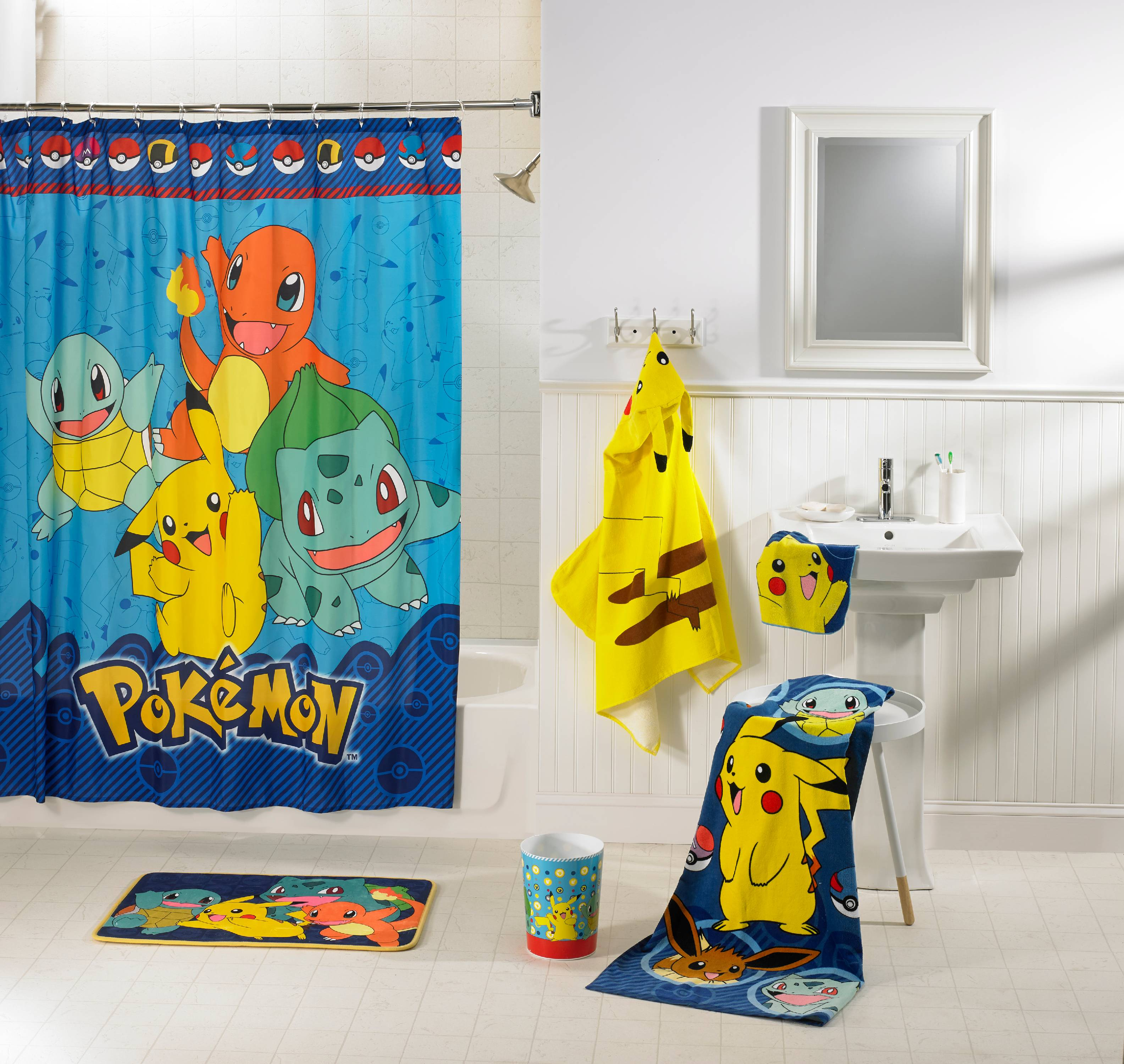 Pokemon Kids 5 Piece Bathroom in a Bag Set, Exclusive