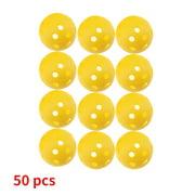 50pcs 26 Holes Practice Sport Ball Elastic Hollow Indoor Golf Training Ball for Children