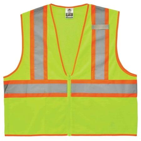 Ergodyne GloWear® 8229Z Type R Class 2 Economy Two-Tone Vest, Lime, S/M