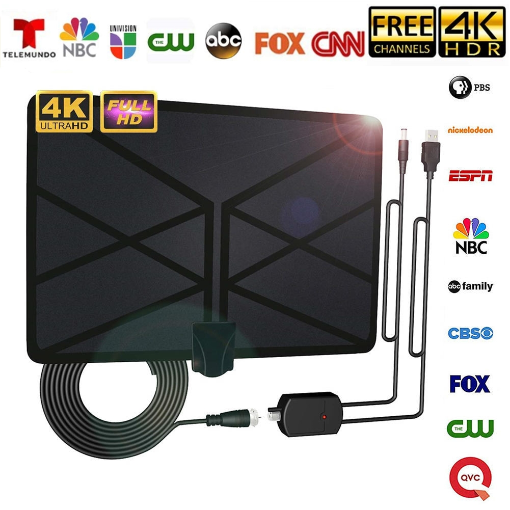 80 Miles Indoor HDTV Antenna Digital TV Antenna with Signal Amplifier HD 1080P Amplified Digital Indoor TV Antenna Supports 4K Free Channels etc