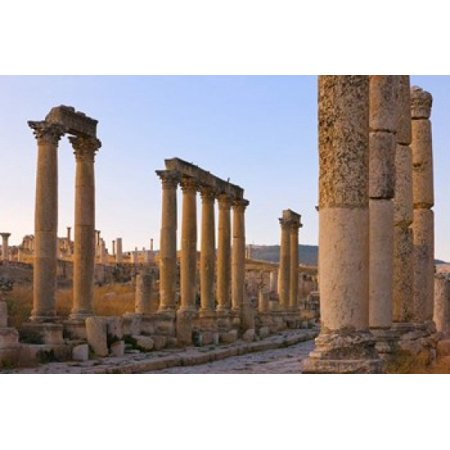 Column Street In Ancient Jerash Ruins Amman Jordan Poster Print By Keren Su