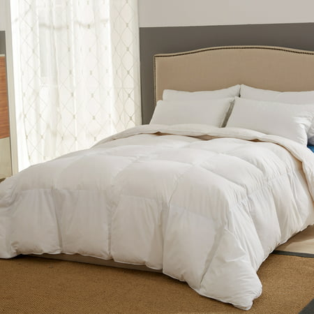 Puredown All Season White Goose Down Fiber Gusseted Comforter,