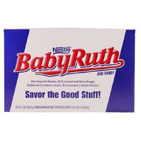 Baby Ruth Chocolate (Product Of Baby Ruth, Peanuts With Caramel Chocolate Bar, Count 24 (2.1 oz) - Chocolate Candy / Grab Varieties & Flavors)