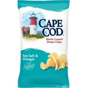 Cape Cod Kettle Cooked Potato Chips, Sea Salt and Vinegar, 8 Oz