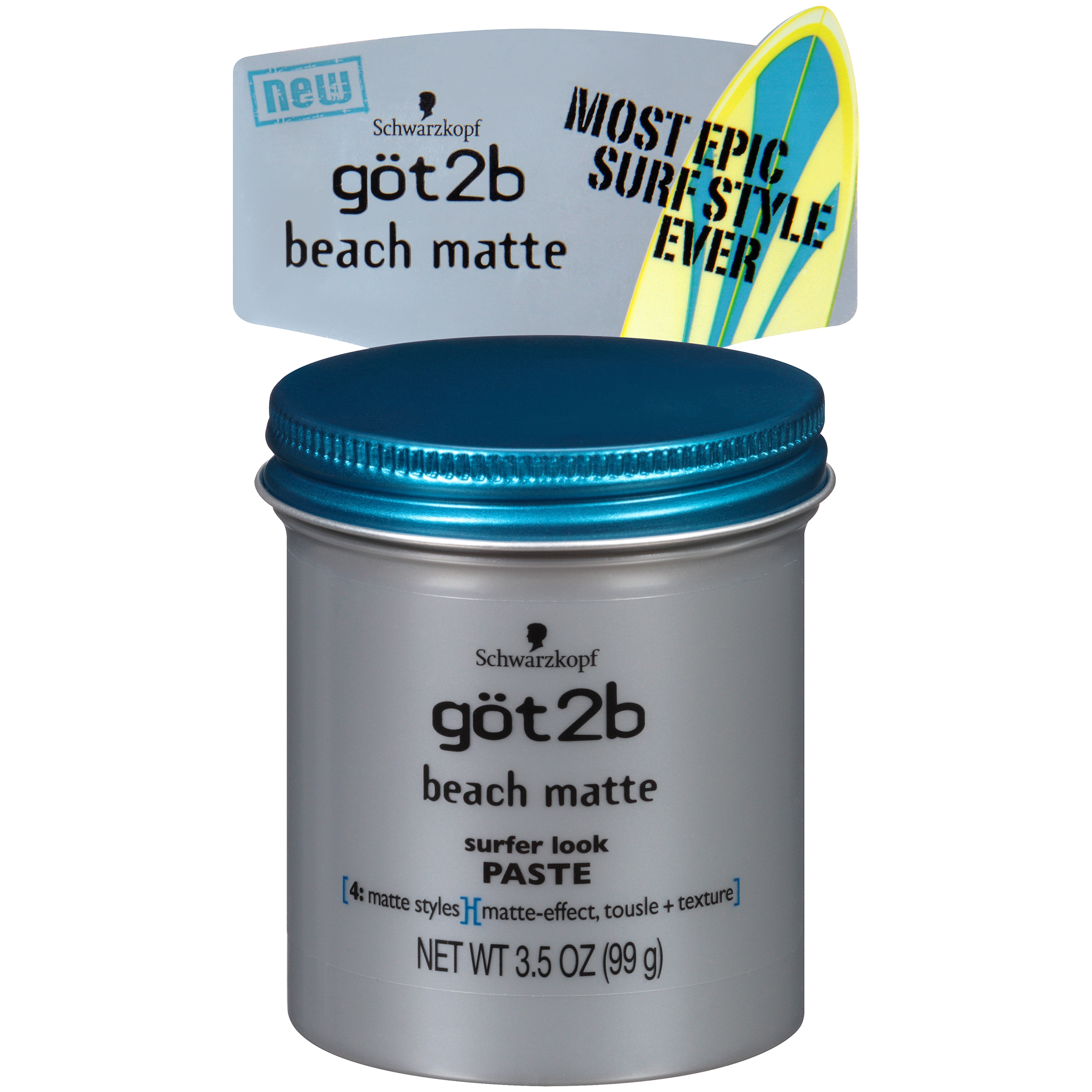 Got2B Beach Matte Surfer Look Hair Paste, 3.5 Ounce
