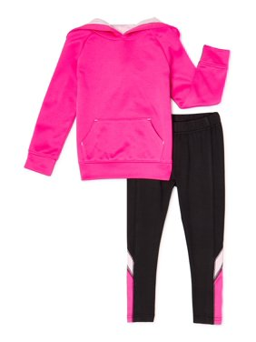 Cheetah Girls Performance Fleece Hoodie and Colorblock Legging, 2-Piece Active Set Size 4-16 & Plus