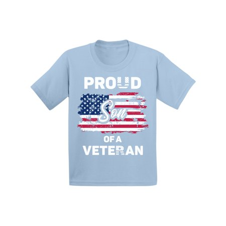Awkward Styles Proud Son of a Veteran Toddler Shirt 4th July Party Patriotic Kids T shirt 51 States Proud Son Tshirt for Boys Superhero USA Veteran Kids T-shirt One Nation 4th of July Shirts for Boys - Superhero Uniforms