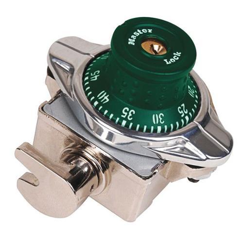 MASTER LOCK 1690GRN Built In Locker Lock, Automatic, Green