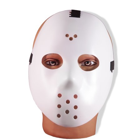 Forum Halloween Horror Jason Hockey Face Mask, White, One-Size - Realistic Face Mask Halloween