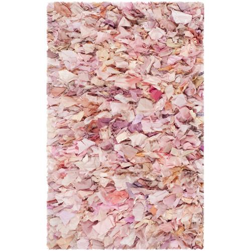 Safavieh Ivory/Pink Shag Area Rug
