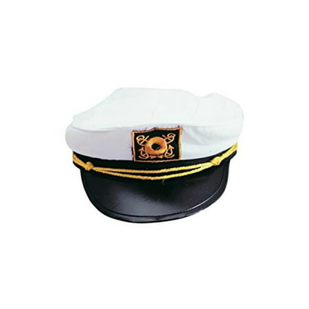 Adult Yacht Captain Hat Costume Accessory-One size (Captain Hook Adult)