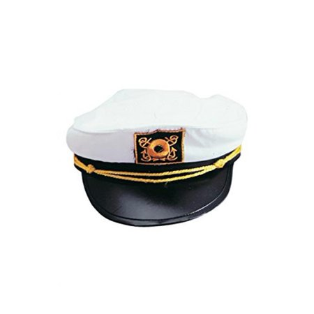 Adult Yacht Captain Hat Costume Accessory-One size (Captins Hat)