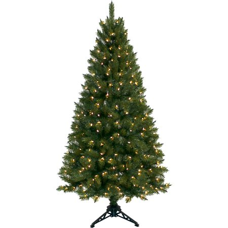 Pre Lit 6 Half Christmas Tree Green Clear Lights