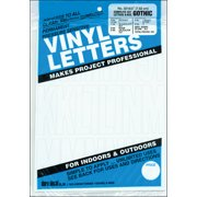 """Permanent Adhesive Vinyl Letters & Numbers 3"""" 160/Pkg-White"""