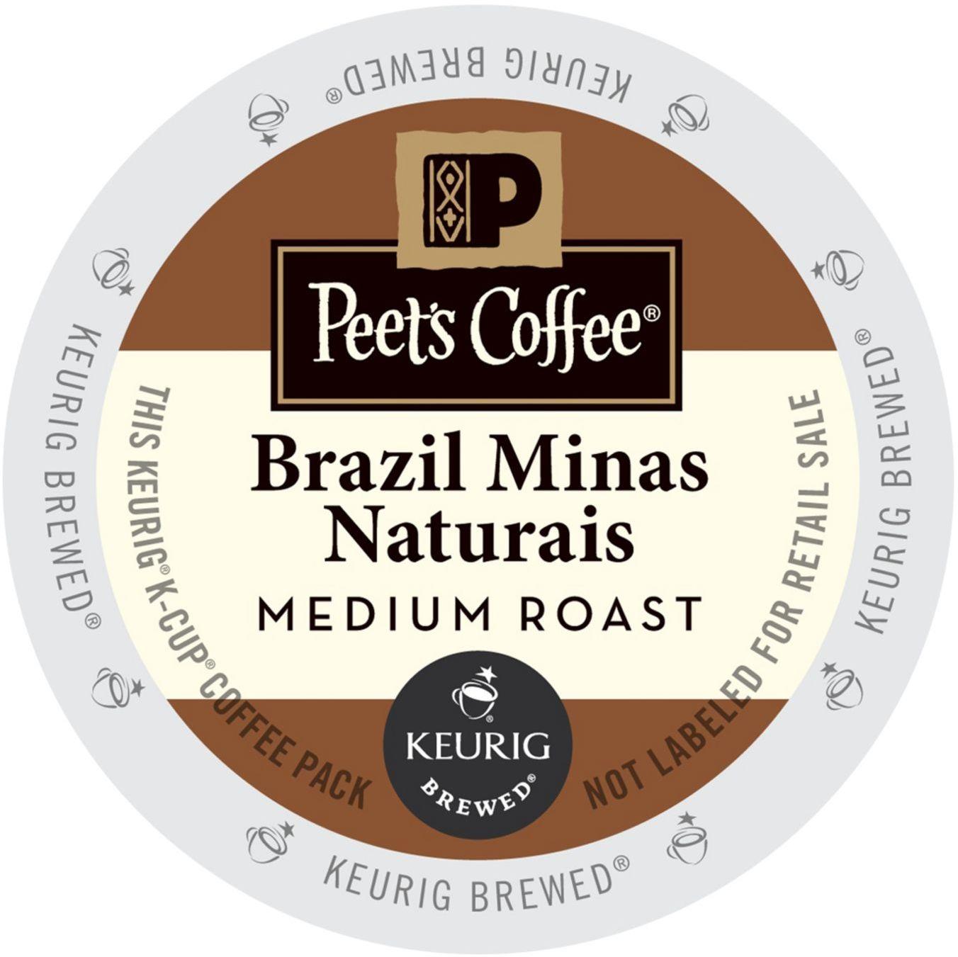 Peet's Coffee & Tea Brazil Minas Naturais Coffee 22 K Cup Packs