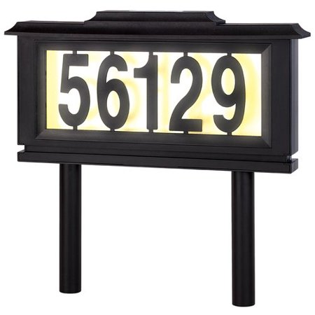 Meridian Point Solar 1-Line Address Plaque Frame Set