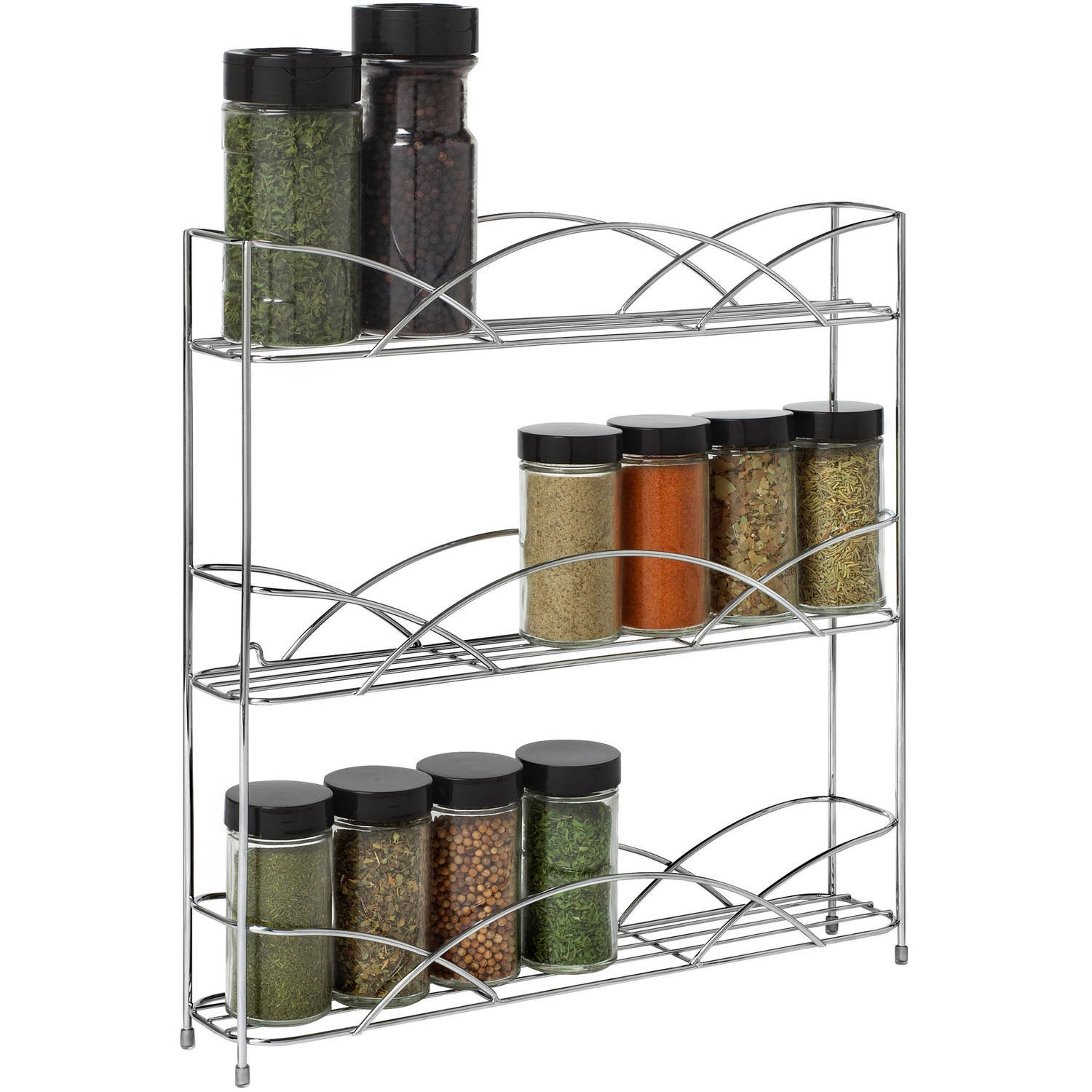 Spectrum Diversified Designs Countertop 3-Tier Spice Rack, Chrome