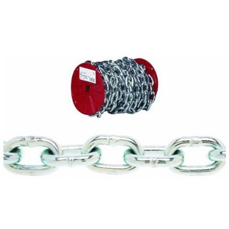 #1 Trade 450 Length 0.11 Diameter Zinc Plated Campbell 0754126 Low Carbon Steel Inco Double Loop Chain in Square Pail 155 lbs Load Capacity