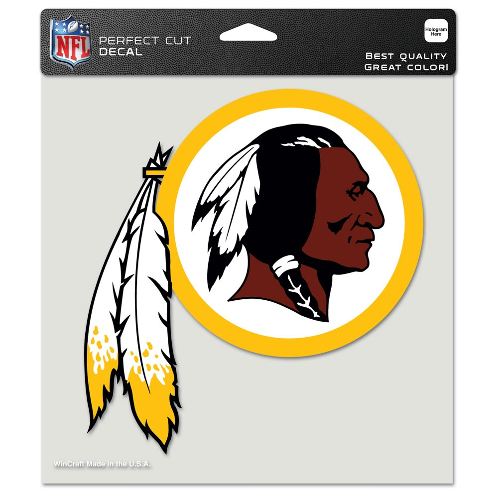 Washington Redskins Official NFL 8 inch x 8 inch  Die Cut Car Decal by Wincraft