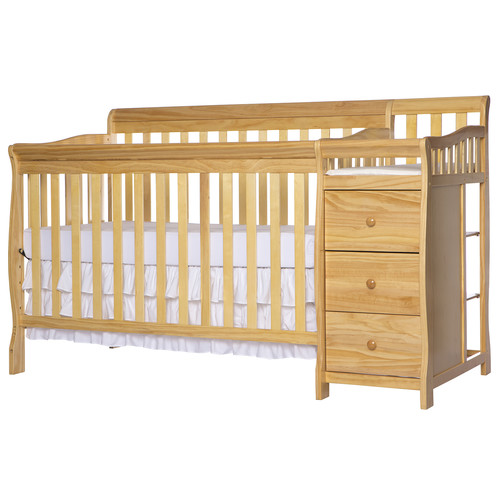 Dream On Me 4 in 1 Brody Convertible Crib with Changer in Natural