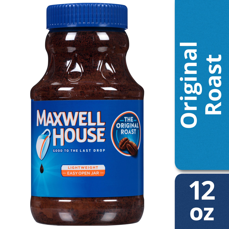 Maxwell House Original Roast Ground Instant Coffee Caffeinated 12 Oz Jar Walmartcom