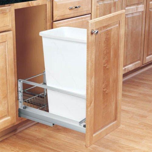 Rev-A-Shelf Single Soft Close Pull Out 50 qt. Trash Can