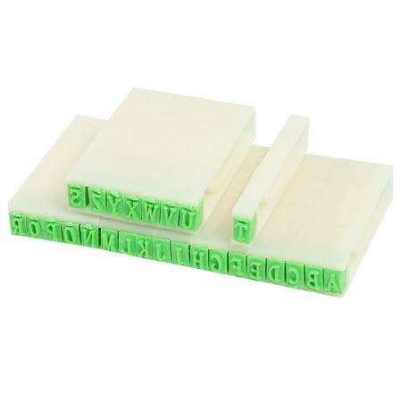 Unique Bargains Unique Bargains Beige Plastic Handle Stationery A-Z Letters Alphabet Stamp Set Stationers (Plastic Alphabet Stamps)
