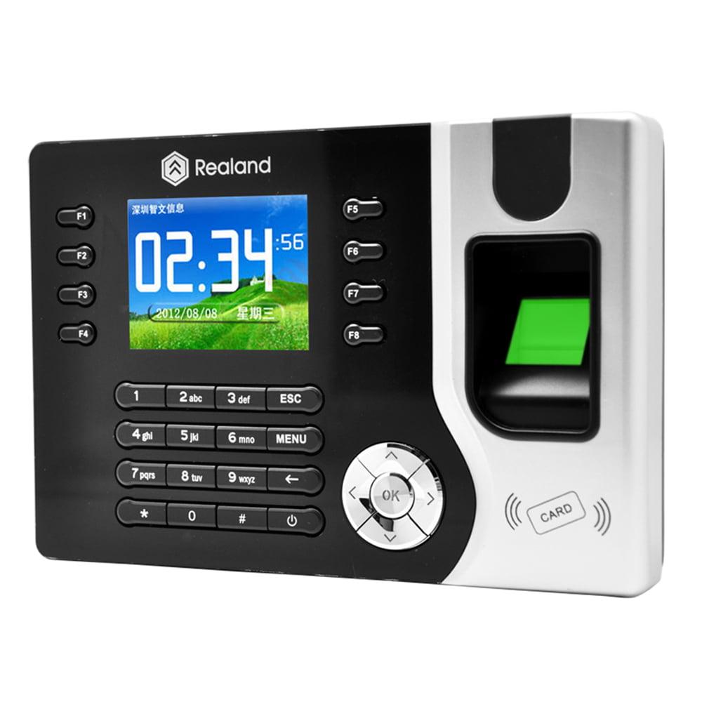 "A-C071 2.4"" Biometric Fingerprint Attendance Time Clock With ID Card Reader+USB by konxa"