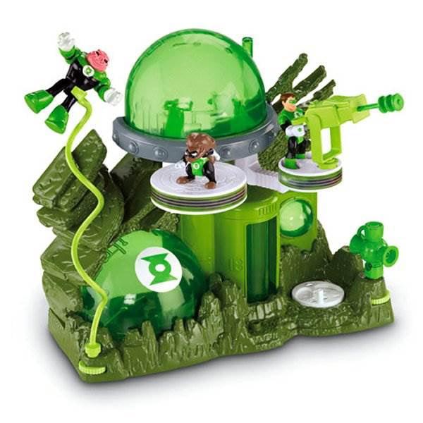 Batman Imaginext Green Lantern Planet Oa playset NICE