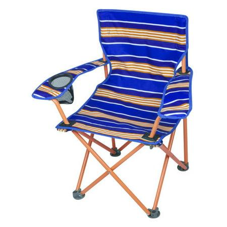Ozark trail kids 39 orange strip camp chair for Orange kids chair