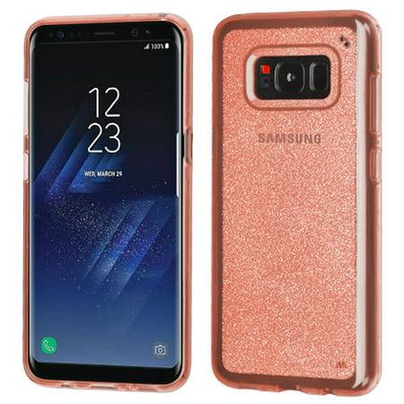 Samsung Galaxy S8+ Case, Samsung Galaxy S8 Plus Case, by Insten Transparent Sheer Glitter Premium TPU Candy Skin Case For Samsung Galaxy S8+ S8 Plus - Rose Gold