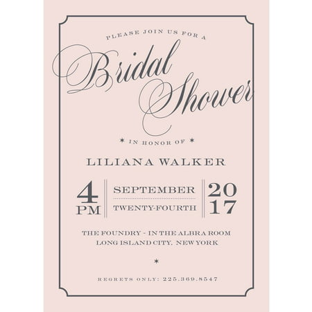 Beautiful Shower Standard Bridal Shower Invitation