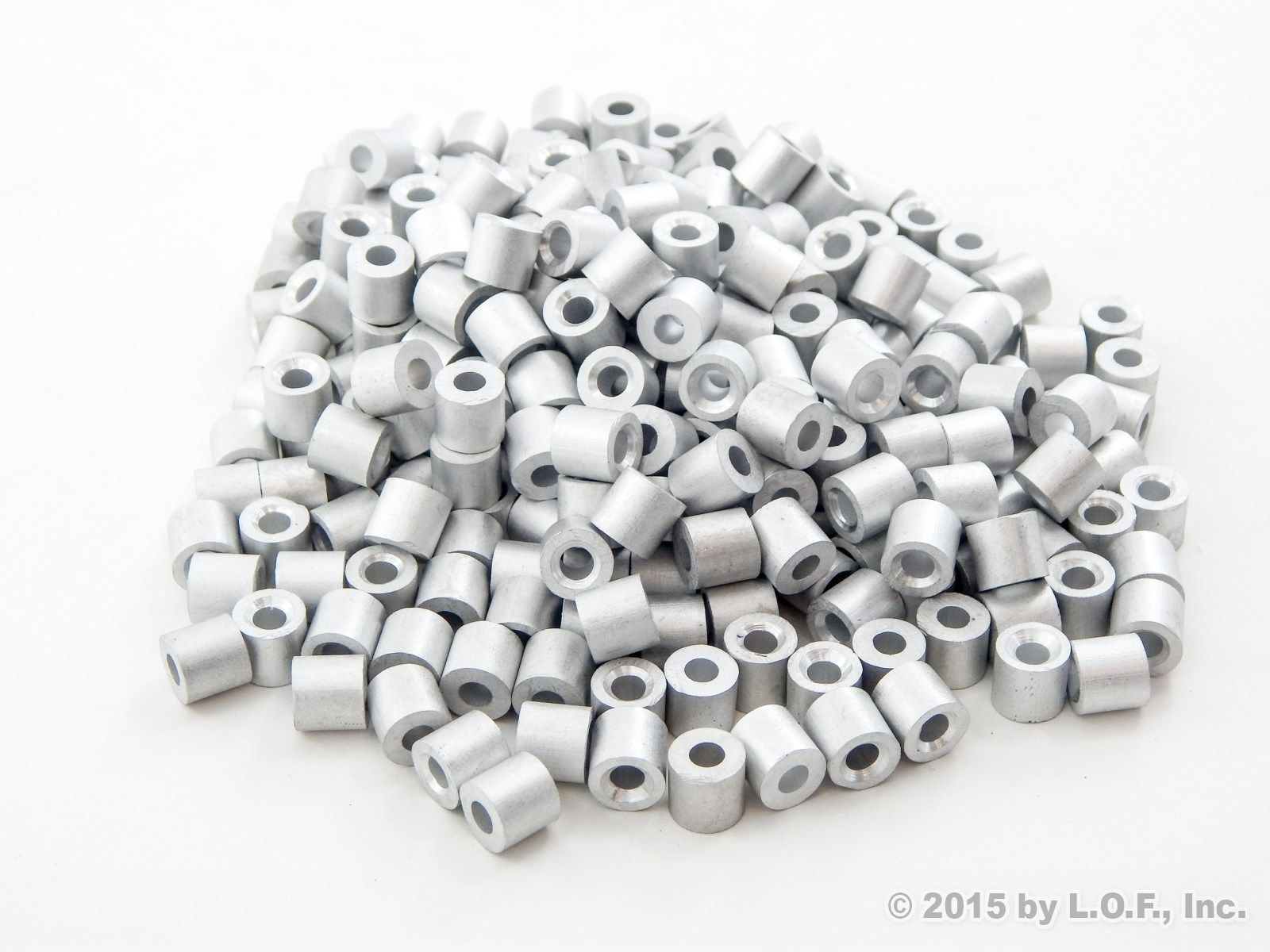 1//8 Inch Aluminum Double Ferrules 100 Pack Snare Cable Trapping Supplies