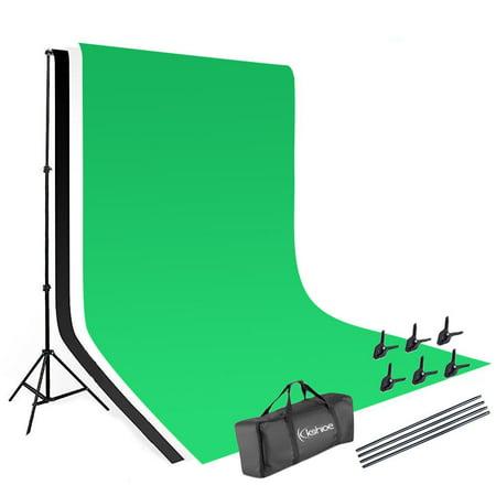 Ktaxon 1.6*3m Backdrop 2*3m Background Stand Photography Video Studio Lighting Kit ()