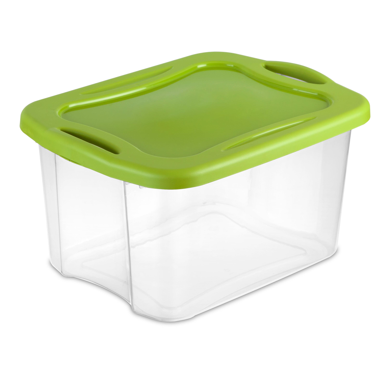Sterilite 40-Quart (38 L) EZ Carry, Clear/Spicy Lime