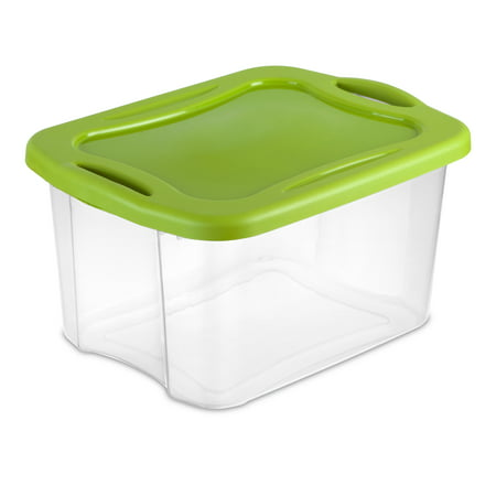 Sterilite 40-Quart (38 L) EZ Carry, Clear/Spicy Lime