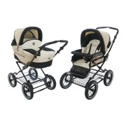 Roan Rocco Classic Pram Stroller 2 In 1 With Bassinet And Seat