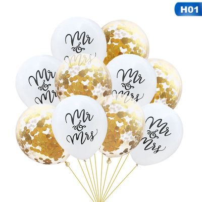 KABOER 10PC Mr  Mrs Just Married Latex Balloon Wedding Party Decors Balloons Item