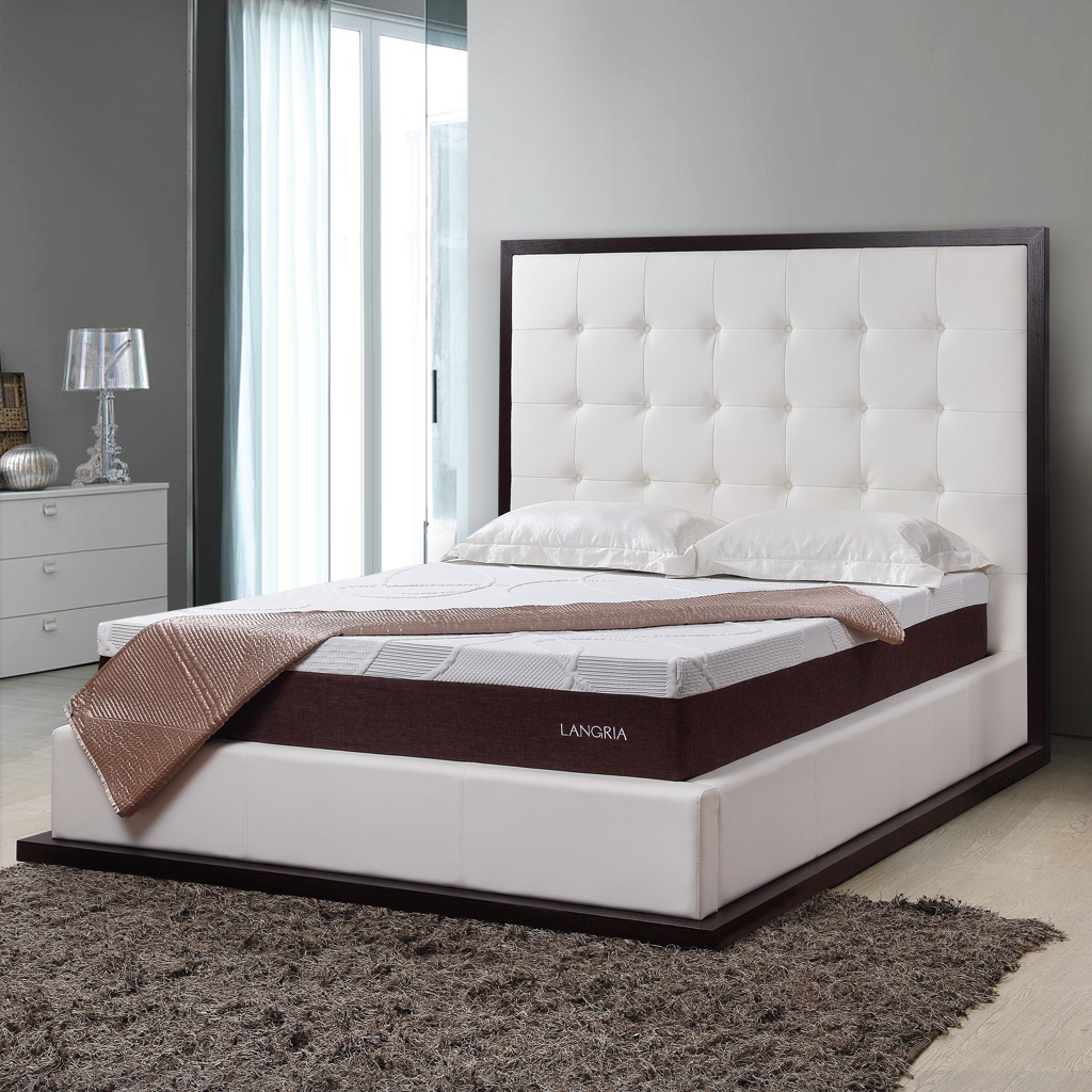 LANGRIA Deluxe High Density Memory Foam Mattress 10 inch ...
