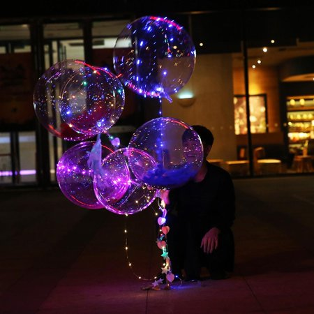 LED Shining Helium Balloons Transparent Flashing Balloon Light Wedding Birthday Xmas Christmas Thanksgiving Party