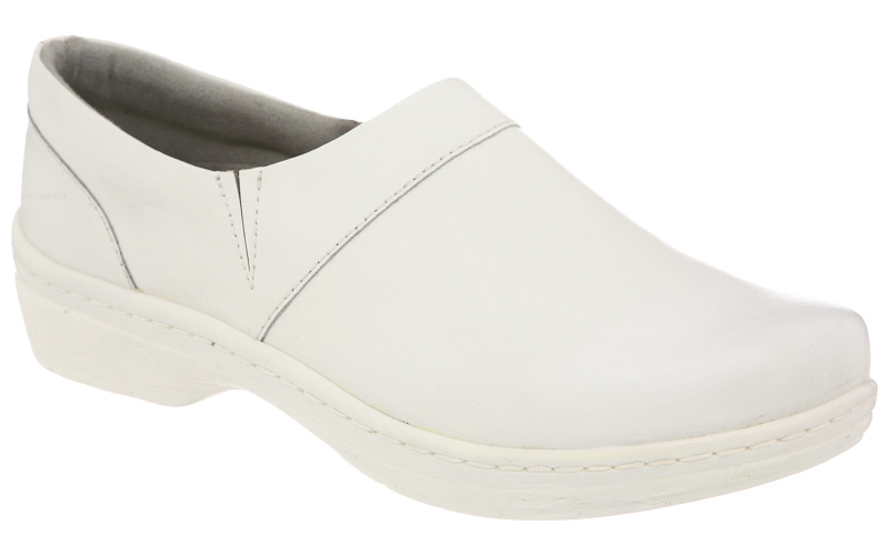 Klogs Mission Leather Clog Many Colors White Smooth Women's by Klogs