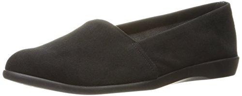 Aerosoles Women's Trend Setter Slip-On Loafer, Black Suede, 9.5 M US by